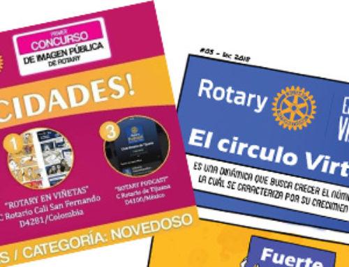 ROTARY EN VIÑETAS, primer puesto en la PRIMERA EDICION del concurso IMAGEN PUBLICA DE ROTARY